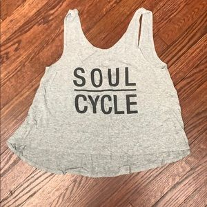 Gray SOULCYCLE stretch, flowy tank